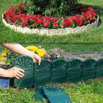 Bordures décoratives de jardin en plastique