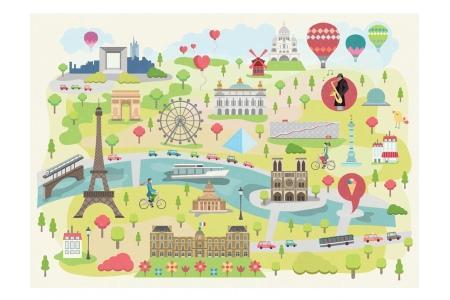 Puzzle en bois Paris illustre 24 pcs