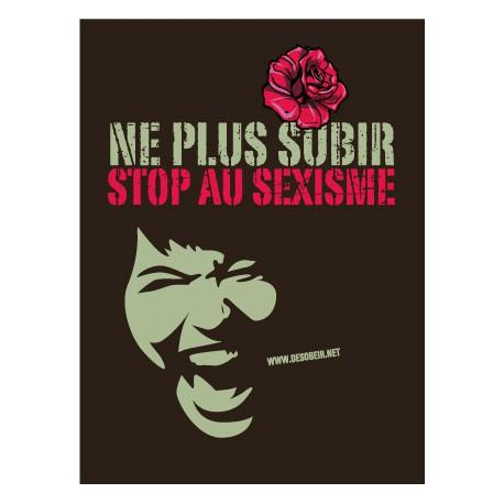 Sticker Ne plus subir, Stop au sexisme