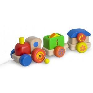 Train à trainer 'mon chouchou' wonderworld - jouets en boistrain