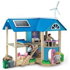 Maison de poupée écologique wonderworld - jouets en bois