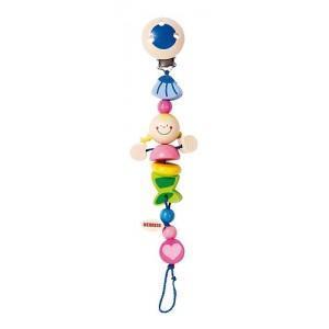 Attache sucette sirène heimess - jouets en bois pour bébés