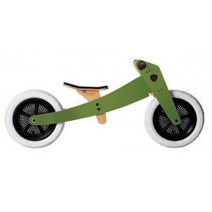 Draisienne en bois wishbone 3 en 1 bike verte