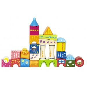 Jeu de cubes château fort fantasia - jouets bio hape