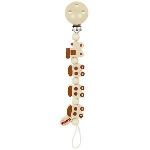 Attache tétine bois naturel train heimess - jouets accessoire bébés