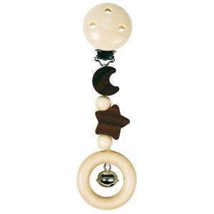 Hochet pince lune et étoile heimess - jouets en bois bébé