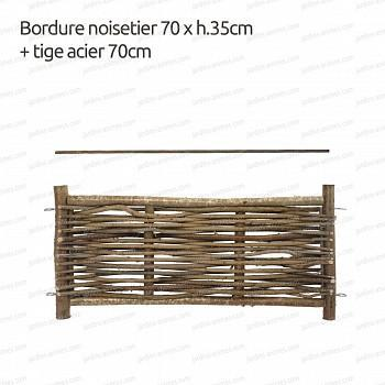 Bordure noisetier 70xh.35   tige 70cm