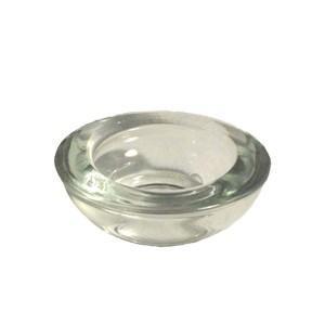 Bougeoir photophore en verre pour chauffe-plat