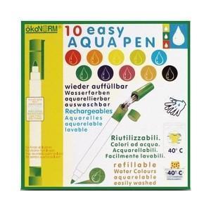 ökonorm feutres lavables - rechargeables  aqua pen  10 couleurs