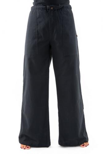 Pantalon femme homme hiver zen chic noir uni