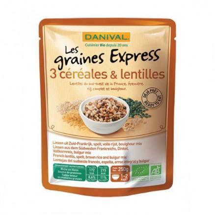 Express lentilles, épeautre, riz complet et boulghour