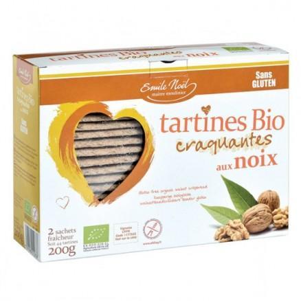 Tartines sans gluten aux noix