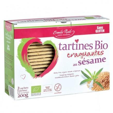 Tartines sans gluten au sésame