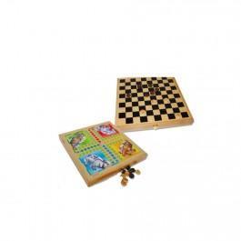 Coffret en bois 4 jeux traditionnels