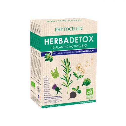 Herbadraine Bio aux 12 plantes actives - 20 ampoules