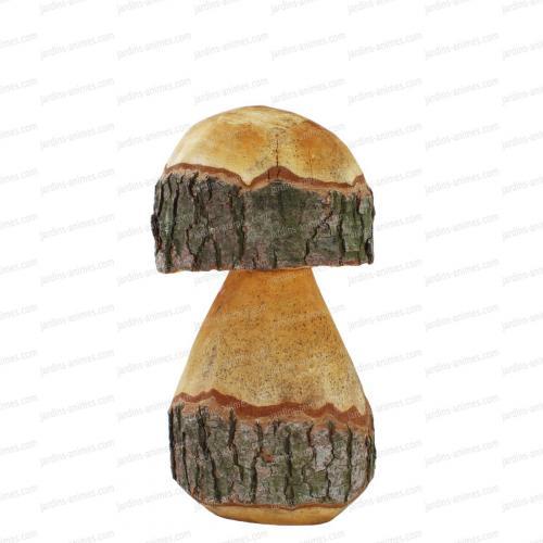 Champignons déco h.35cm en bois