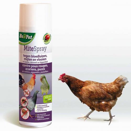 Spray poulailler anti-puce anti-poux anti-acarien 500ml