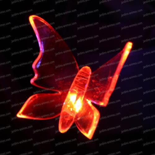 Papillon lumineux solaire led multicolore