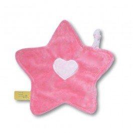 Doudou petite étoile rose bonbon rose bébé