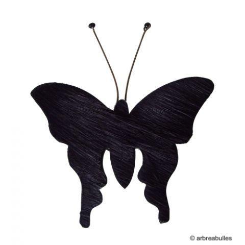 Broche Papillon noir - commerce équitable, Mahatsara, Afrique du Sud
