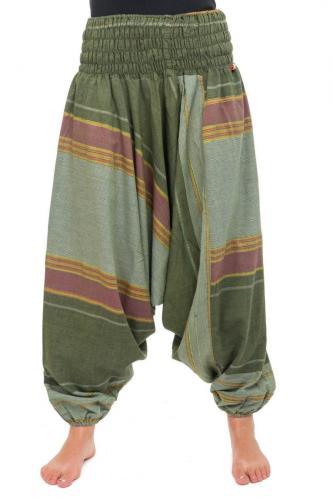 Pantalon sarouel vert sari brilliant du nepal alladin indien