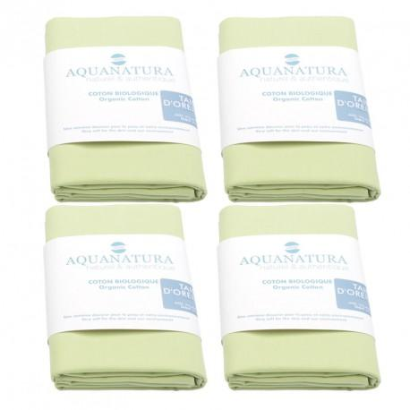 Lot 4 taies coton bio Aquanatura