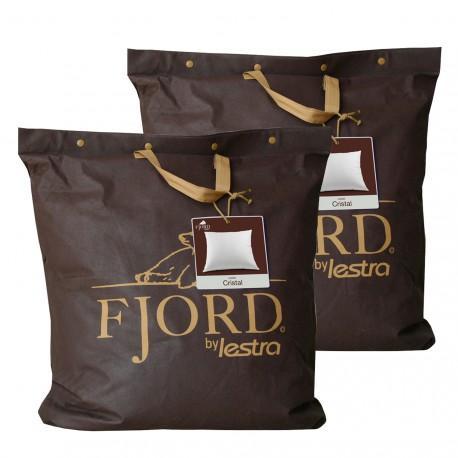 Lot 2 oreillers Lestra Fjord Cristal Dimensions 65x65