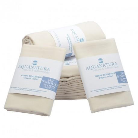 Parure de draps en coton bio Aquanatura Couleur Bleu Dimensions 140x190 (4 pièces)