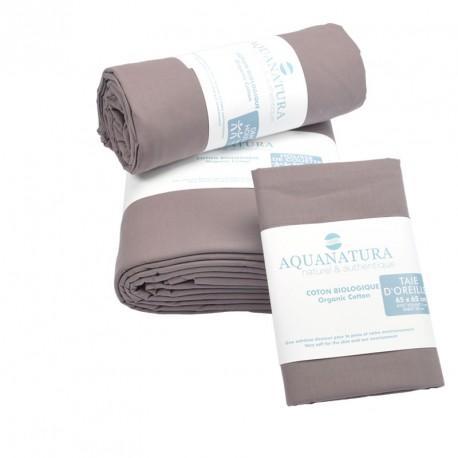 Parure de draps en coton bio Aquanatura Couleur Cassis Dimensions 90x190 (3 pièces)