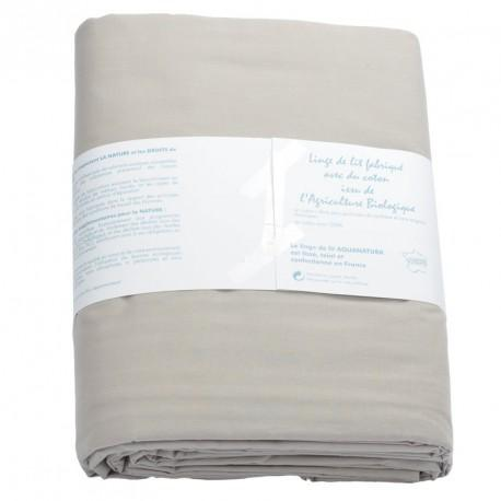 Housse de couette coton bio Aquanatura Couleur Taupe Dimensions 240x220