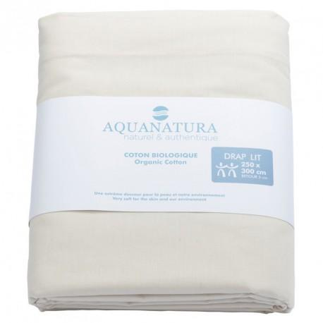 Drap dessus coton bio Aquanatura Couleur Taupe Dimensions 250x300