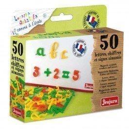 Coffret 50 lettres cursives, chiffres et signes magnétiques