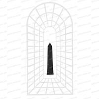 Silhouette obélisque - acier noir