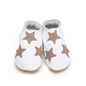 Stars in white and taupe