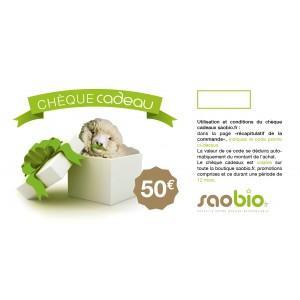 image Chèque cadeau 50 Euros