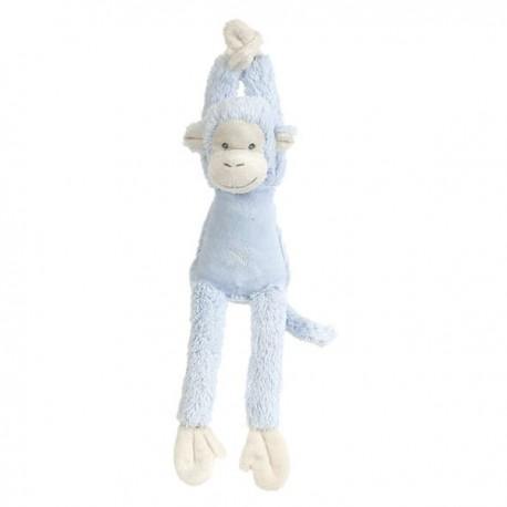 Happy horse peluche musicale singe mickey bleu 37 cm  - peluche