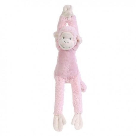 Peluche musicale singe mickey rose 37 cm happy horse - doudou musical