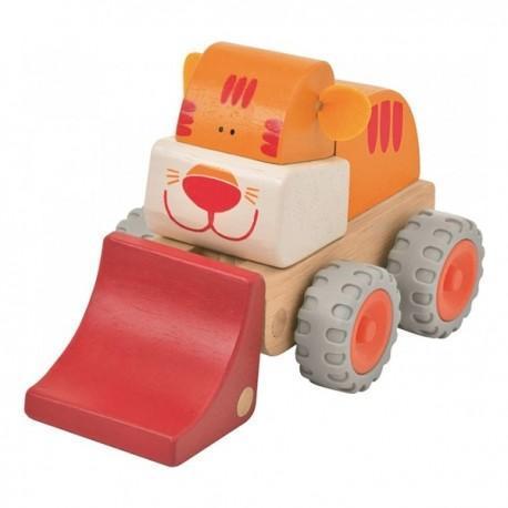 Wonderworld pelleteuse tigre - jouets en bois