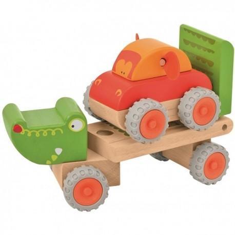 Wonderworld camion remorque crocodile - jouets en bois