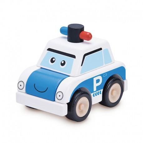 Voiture de police à construire  wonderworld - jouets en bois