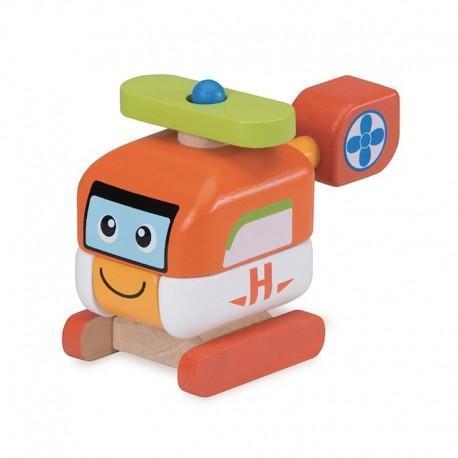 Hélicoptère  à construire  wonderworld - jouets en bois
