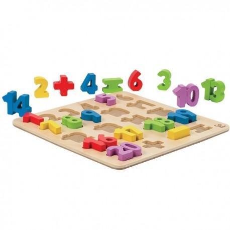 Puzzle chiffres - opérations en bois - jouets hape