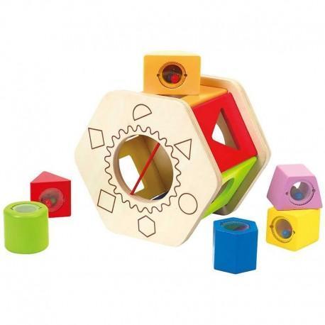 Boîte à formes à cubes hochets hape - jouets hape
