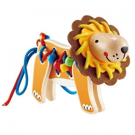 Set loisirs créatifs jeu de laçage lion  - jouets hape