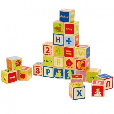 26 cubes alphabet 'abcdaire'  - jouets hape