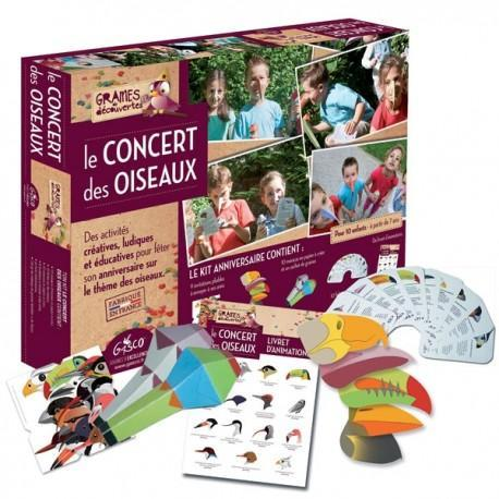 Kit anniversaire concert des oiseaux graines de découverte - jeux