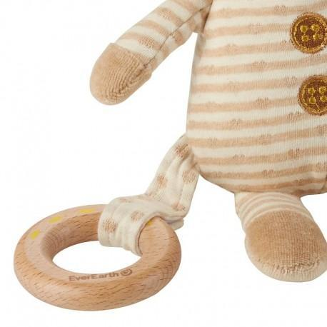Peluche everearth ourson -  anneau de dentition - peluche bio