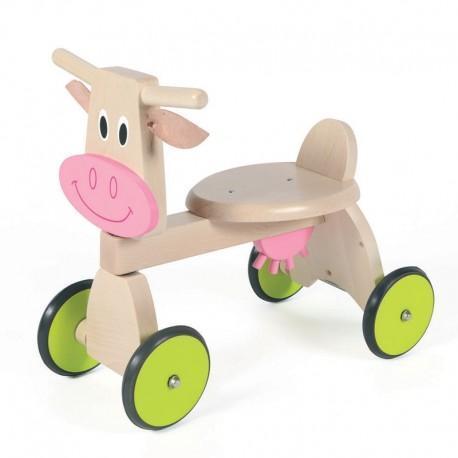 Porteur trotteur vache scratch - porteur en bois