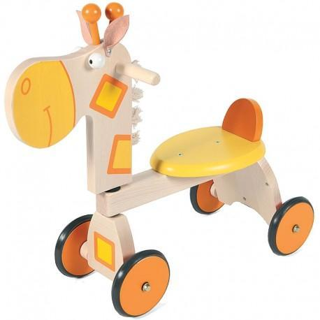 Porteur girafe scratch - porteur en bois