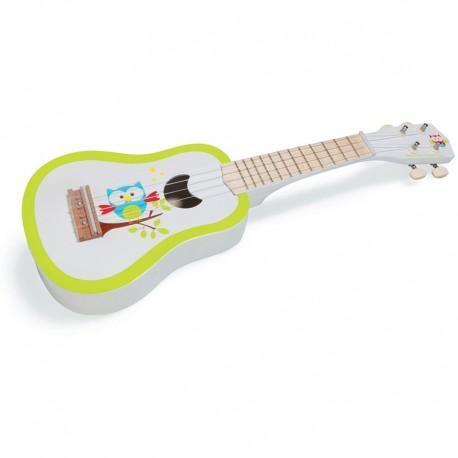 Guitare ukulélé hibou lou scratch - jouets musique